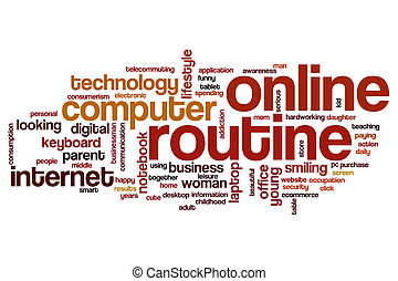 Online routine word cloud