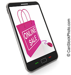 Online Sale Bag Shows Selling and Buying on the Internet