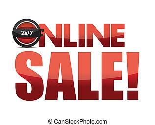 Online sale text illustration