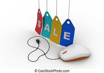 Online sales concept