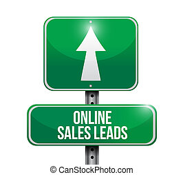 Online Sales Leads street Sign isolated