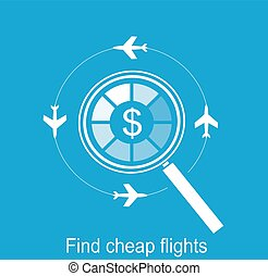 online search the airline tickets