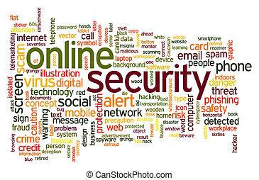 Online security word cloud