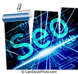 Online Seo Shows Website Optimization 3d Illustration