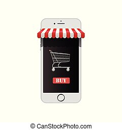 online shop on smart phone