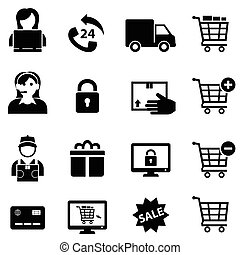 Online Shopping and E-commerce Icons