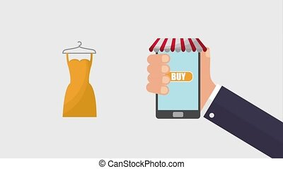 online shopping animation hd
