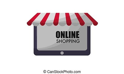 online shopping animation hd - tablet online shopping...