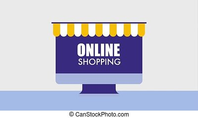 online shopping animation
