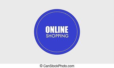 online shopping bag computer market color badge