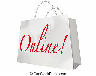 Online Shopping Bag Internet Website Store
