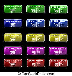 Online Shopping Buttons