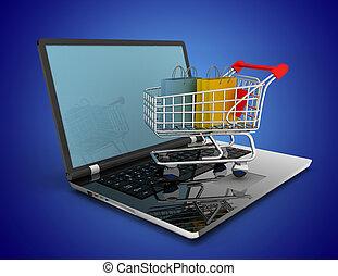 online shopping concept. 3d illustration