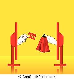 online shopping concept design