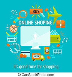 Online shopping concept - Online internet shopping concept ...