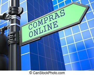 Online Shopping Concept. (Portuguese) - Internet Concept. ...