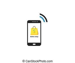 online shopping concept vector illustration