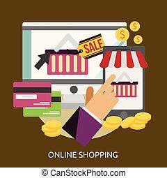 Online Shopping Conceptual illustration Design