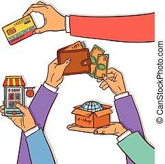 Online shopping design concept