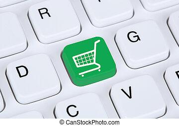 Online shopping e-commerce internet shop concept