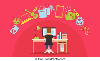 online shopping eCommerce from home