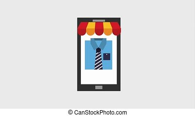online shopping ecommerce - hand using mobile online buying...