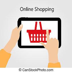 Online Shopping Flat Concept Vector Illustration