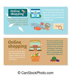 online shopping grocery and seafood flyers