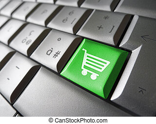 Online Shopping Icon Computer Key