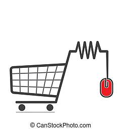 online shopping icon concept vector
