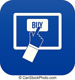 Online shopping icon digital blue