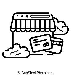 Online shopping icon vector illustration
