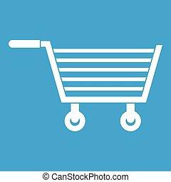 Online shopping icon white