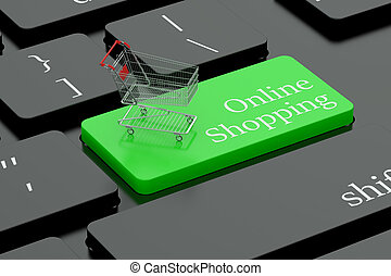 Online shopping keyboard button