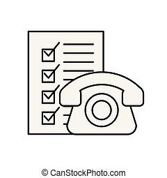 online shopping logistic telephone check list