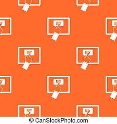 Online shopping pattern seamless