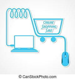 Online shopping sale concept