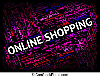 Online Shopping Shows World Wide Web And Commerce