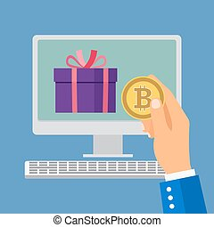 Online shopping with bitcoin
