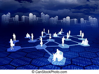 Online Social Network - Concept of how people from around...