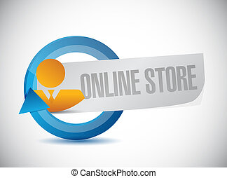 online store business cycle sign concept