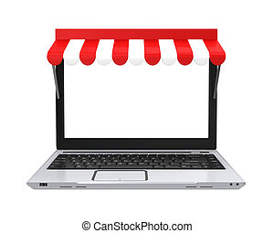 Online Store Concept Isolated - Online Store Concept...