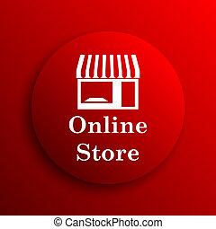 Online store icon. Internet button on white background.
