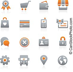 Online Store Icons Graphite - Icons for your digital or...