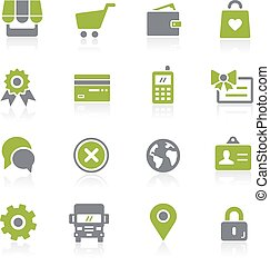 Online Store Icons. Natura