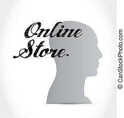 online store mind sign concept illustration