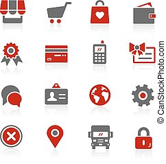 Online Store - Redico Series - Vector icons for your digital...
