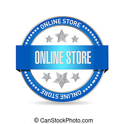 online store seal sign concept illustration