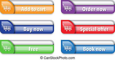 Online store/shop web interface elements 2 - Online shop web...
