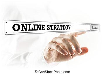 Online strategy written in a navigation bar